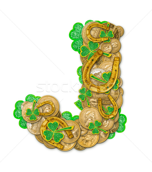 St. Patricks Day holiday letter J Stock photo © grafvision