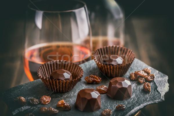 Delicioso chocolate fondo dulces negro oscuro Foto stock © grafvision