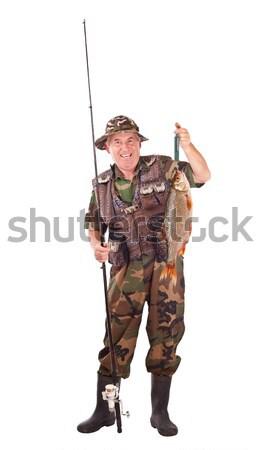 żołnierz wojskowych atakować wróg odizolowany Zdjęcia stock © grafvision