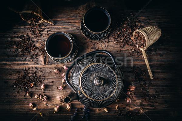 Asian  iron tea set Stock photo © grafvision