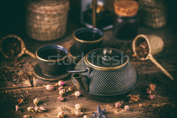 Still life of cast iron teapot Stock photo © grafvision