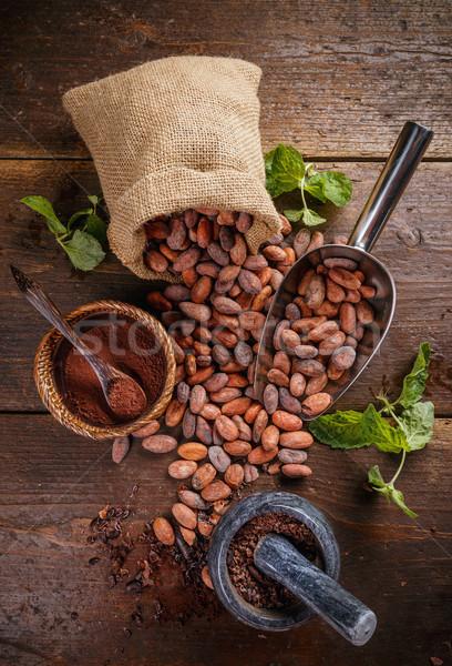 Foto stock: Topo · ver · chocolate · vintage · semente