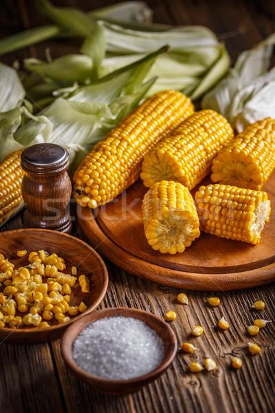 Homemade golden corn cob Stock photo © grafvision