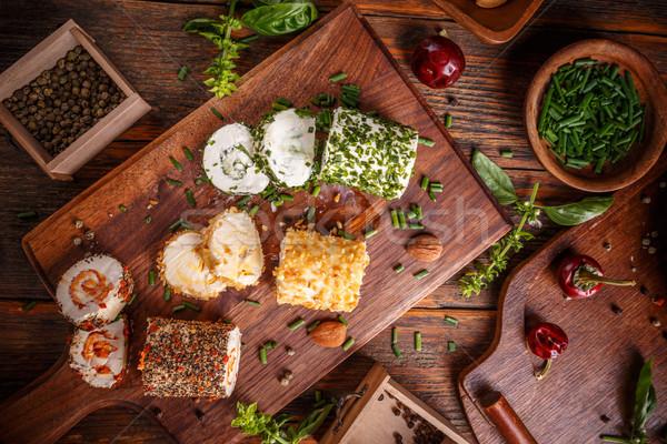 Voorgerechten specerijen kruiden groene huisje Stockfoto © grafvision