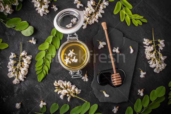 Acacia honey in glass jars  Stock photo © grafvision