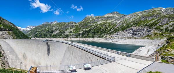 Concrete dam wall Stock photo © grafvision