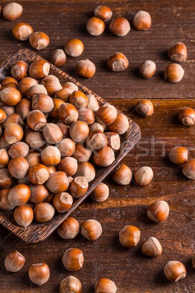 先頭 表示 古い 木製 食品 ストックフォト © grafvision