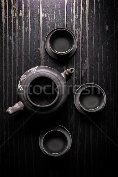 Stock photo: Asian tea set