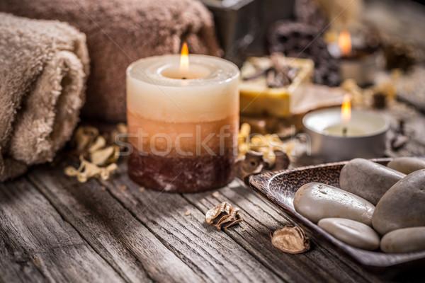 Stock photo: Burning candles