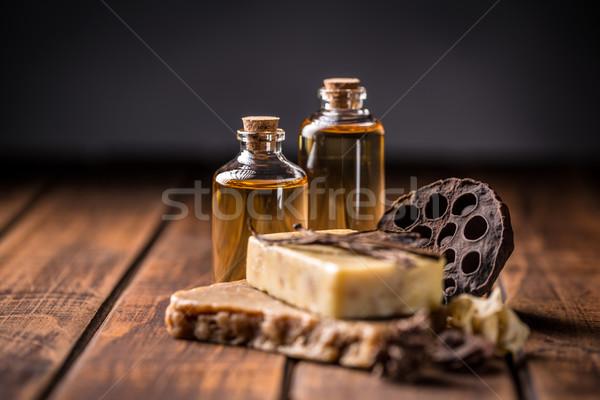 Cold pressed handmade soap Stock photo © grafvision
