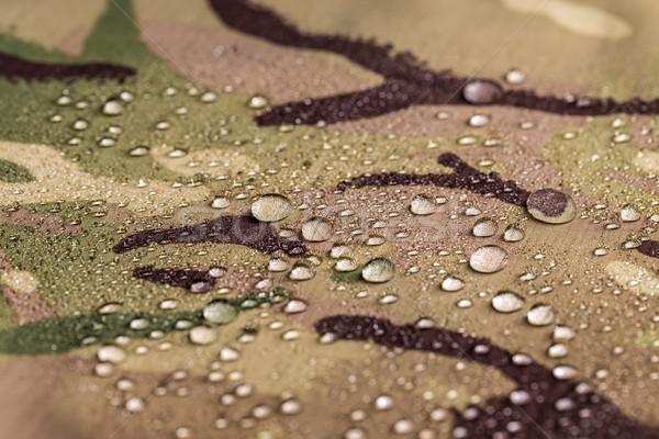 Wodoodporny włókienniczych tkaniny deszcz krople wody Zdjęcia stock © grafvision
