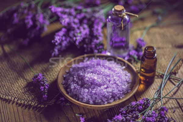 Bath salt and massage oil Stock photo © grafvision