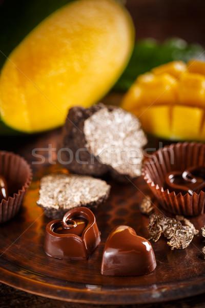 Heart shaped chocolate Stock photo © grafvision
