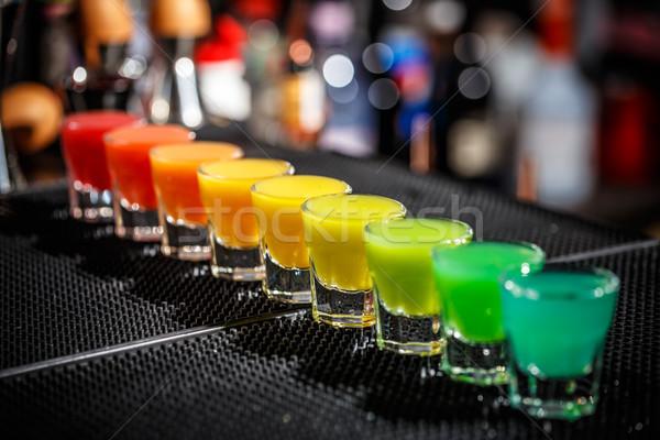 Gökkuşağı renkler hizmet bar karşı Stok fotoğraf © grafvision