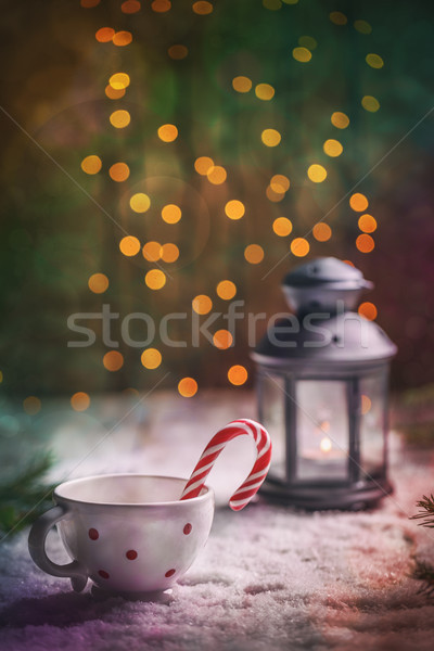 Stock photo: Traditional holiday candy cane
