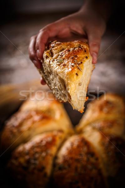 Freshly baked wheat buns Stock photo © grafvision