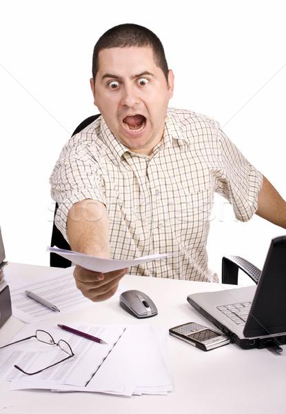 男 オフィス 悪い 日 作業 孤立した ストックフォト © grafvision