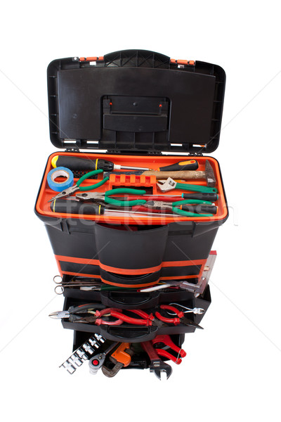 Open tool box with tools  Stock photo © grafvision