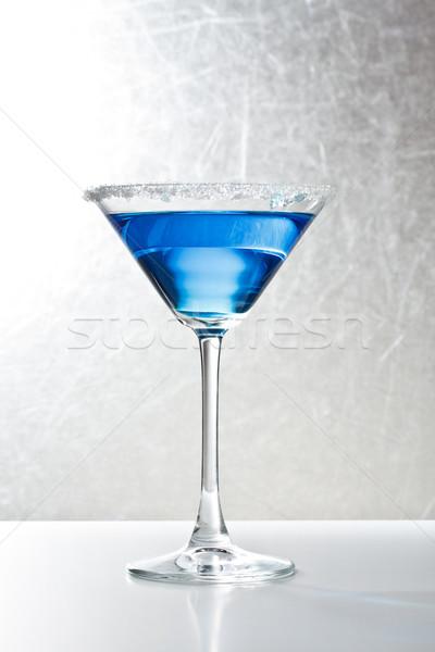 Azul tropicales martini cóctel vidrio mesa Foto stock © grafvision