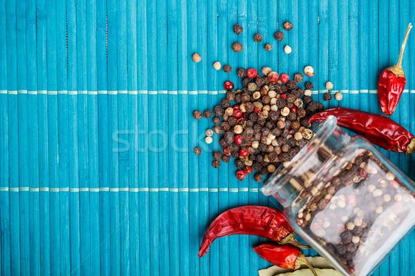 Mixed peppercorns Stock photo © grafvision