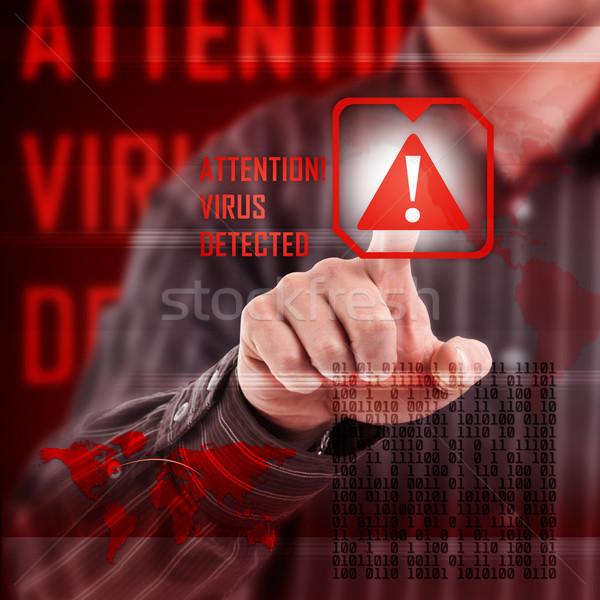 Vírus éber digitális interfész internet háttér Stock fotó © grafvision
