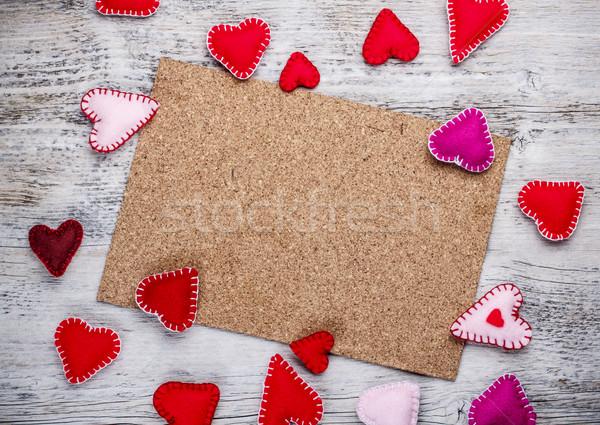 Parafa tábla kézzel készített szeretet háttér tábla ünneplés Stock fotó © grafvision