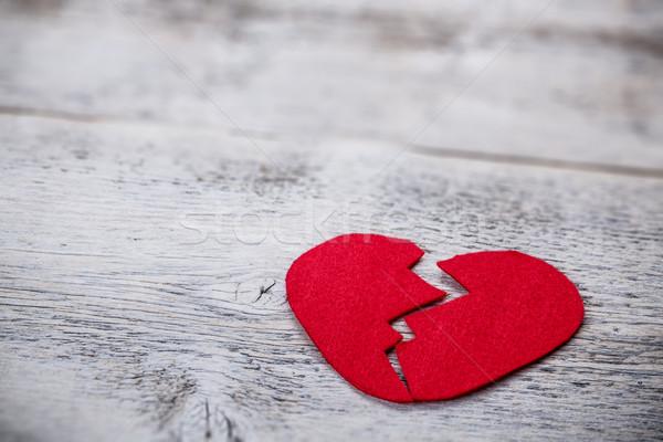 сердце белый текстуры древесины красный Сток-фото © grafvision