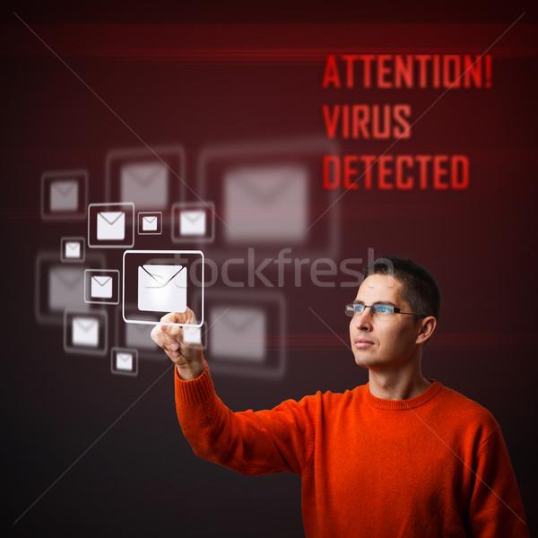 Virus warning message Stock photo © grafvision
