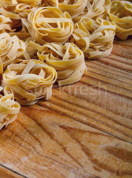 Tagliatelle rustiek voedsel ontwerp achtergrond Stockfoto © grafvision