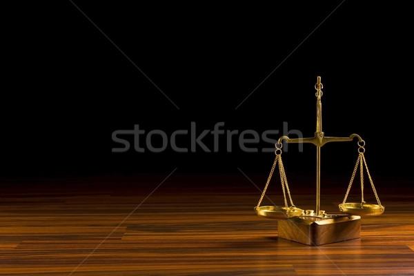 Egyensúly öreg fa törvény fekete Stock fotó © grafvision