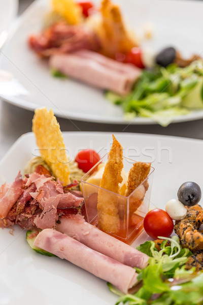 Gourmet appetizer dish Stock photo © grafvision