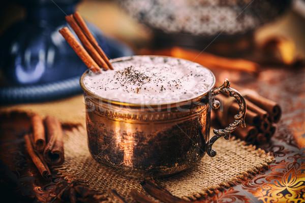 Chá canela em pau café quente canela Foto stock © grafvision