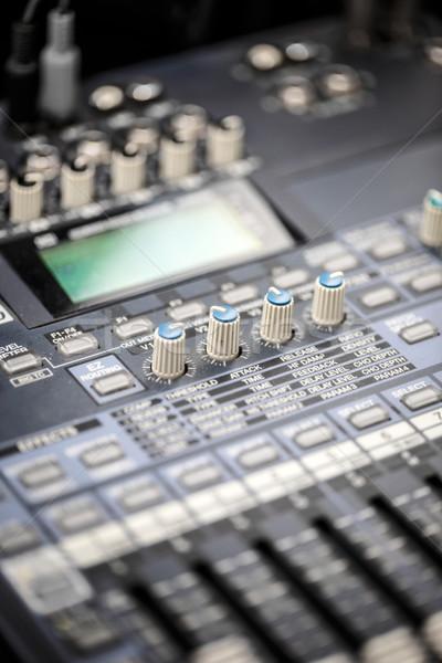 De audio sonido escritorio detalle vista concierto Foto stock © grafvision