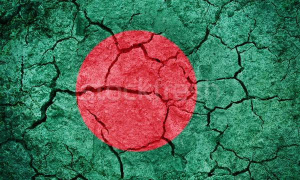 Povos república Bangladesh bandeira secar terra Foto stock © grafvision