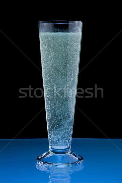 Szénsavas víz üveg ásványvíz fekete ital Stock fotó © grafvision
