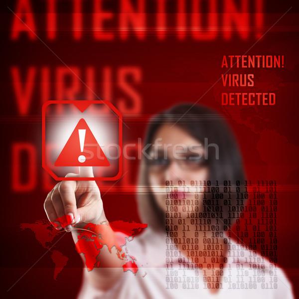 Numérique virus autoroute rouge sombre données Photo stock © grafvision