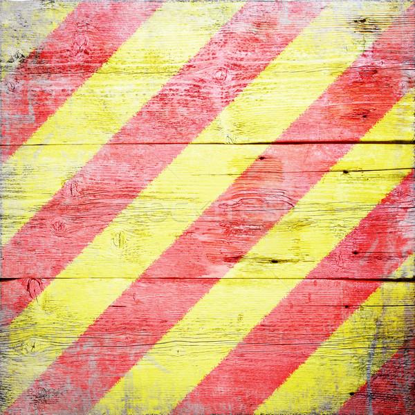 Uluslararası sinyal bayrak boyalı ahşap Stok fotoğraf © grafvision