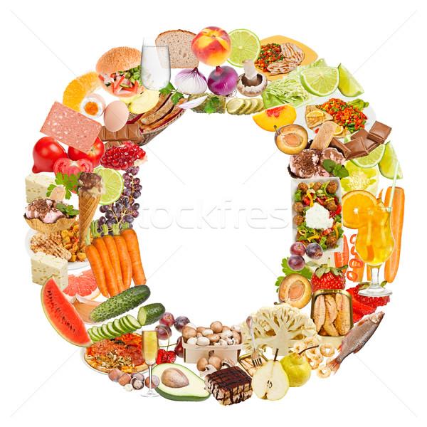 O betű étel izolált fehér gyümölcs tojás Stock fotó © grafvision