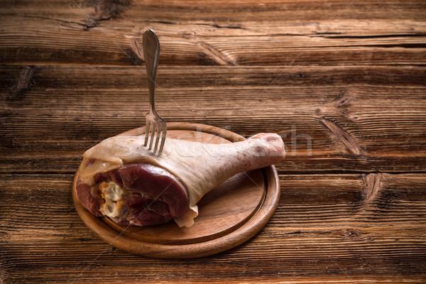 Raw turkey drumstick Stock photo © grafvision
