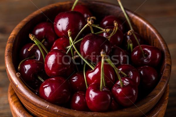 Kwaśny wiśniowe puchar żywności Zdjęcia stock © grafvision