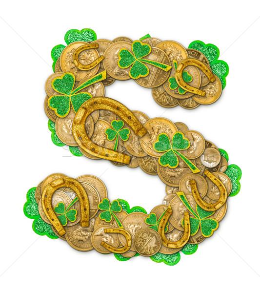 St. Patricks Day holiday letter S Stock photo © grafvision