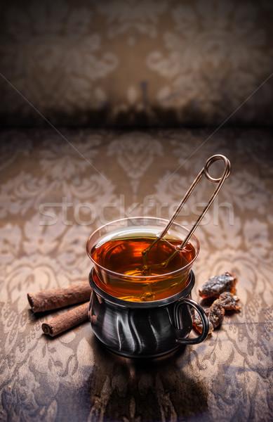 Cam türk çay bağbozumu gıda sıcak Stok fotoğraf © grafvision