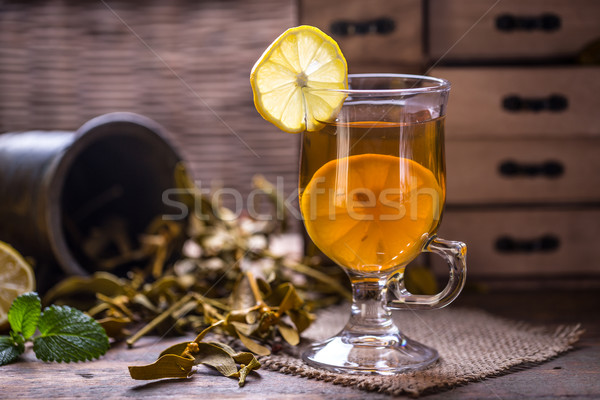 Cup of herbal tea  Stock photo © grafvision