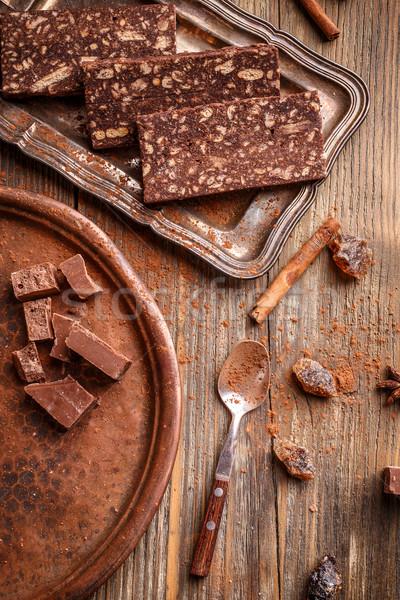 Delicioso casero chocolate dulces rústico estilo Foto stock © grafvision