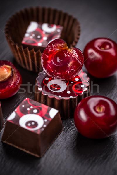 Chocolate truffle candy Stock photo © grafvision