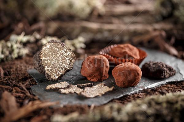 グルメ チョコレート 黒 ストックフォト © grafvision