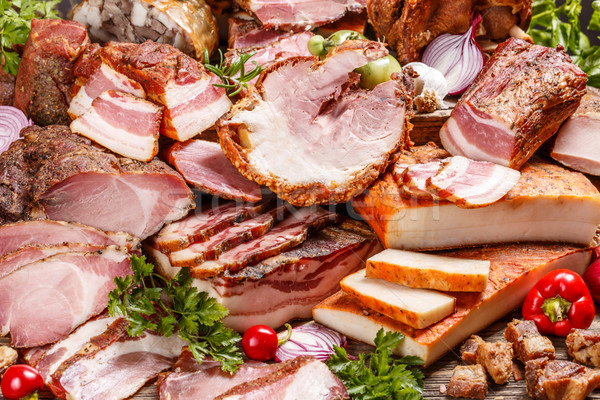 Smoked pork meat products  Stock photo © grafvision