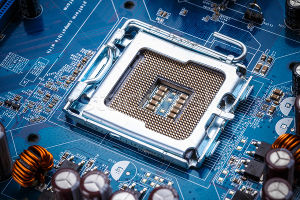 Bleu électronique circuit coup fond Photo stock © grafvision