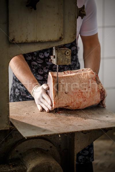 肉屋 肉 作業 ステーキ 男性 ストックフォト © grafvision