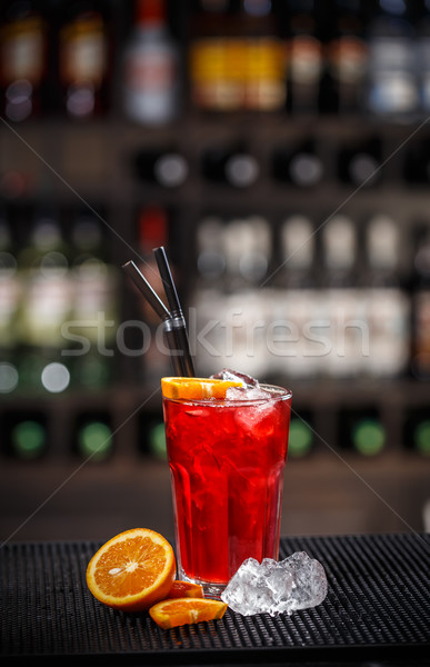 Fresh red non alcoholic cocktail Stock photo © grafvision